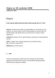 Zápis z jednání ABK 25.1.2012