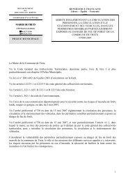 1 MAIRIE DE TRETS Le Maire de la Commune de Trets, Vu le Code ...