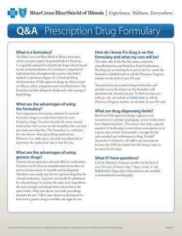 Q&A Prescription Drug Formulary