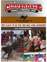 2012 SPONSORSHIPS - Cloverdale Rodeo and Exhibition