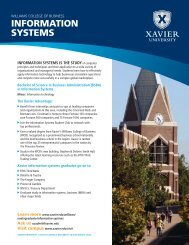 INFORMATION SYSTEMS - Xavier University