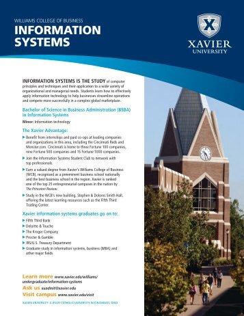 INFORMATION SYSTEMS - Xavier University