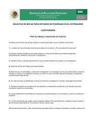 SOLICITUD DE BECAS PARA ESTUDIOS DE POSGRADO EN EL ...