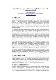 Object Oriented approach to integrating Business context with ...
