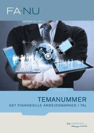 FA•NU oktober 2014 Det finansielle arbejdsmarked i tal