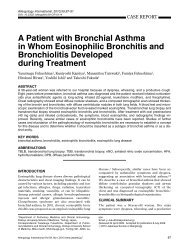 A Patient with Bronchial Asthma in Whom Eosinophilic Bronchitis ...