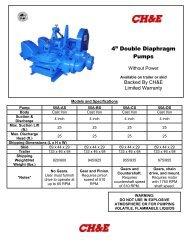 "4"" Double Diaphragm Pumps - BBC Pump and Equipment"