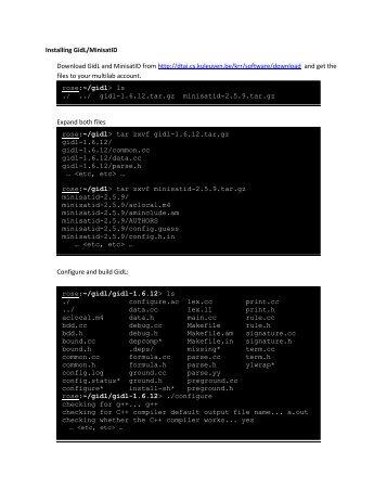 Installing GidL/MinisatID Download GidL and MinisatID from http ...