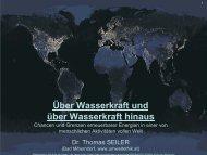 Über Wasserkraft (hinaus) (Dr. Thomas SEILER) - Lebendige Flüsse