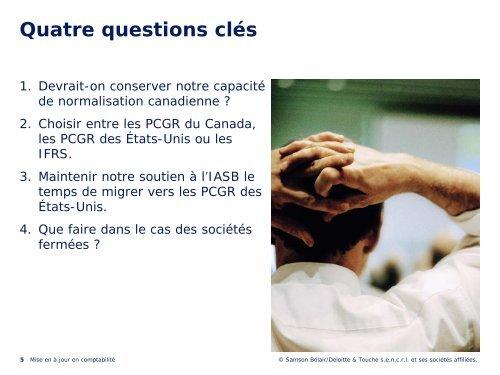 Télécharger la présentation PowerPoint (pdf) - Deloitte & Touche ...