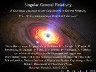 Singular General Relativity - Theory.nipne.ro