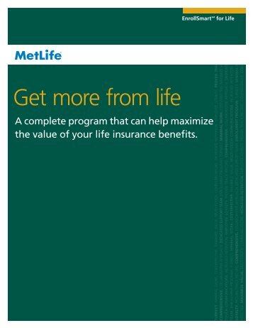 Get more from life - Benefits from MetLife