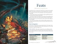 Feats - Wizards of the Coast