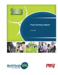 Final Summary Report - North Florida TPO
