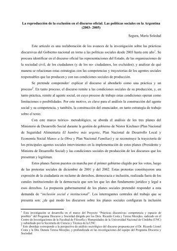 Segura, María So - Sociedad Argentina de Análisis Político, SAAP