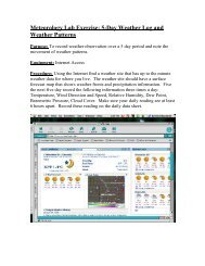 Meteorology Lab Exercise: 5-Day Weather Log and Weather Patterns