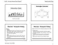 9-Interaction Style Jenis Interaksi