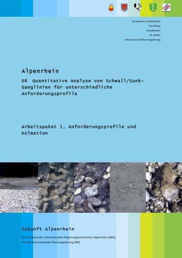 Arbeitspaket 1 - Zukunft Alpenrhein