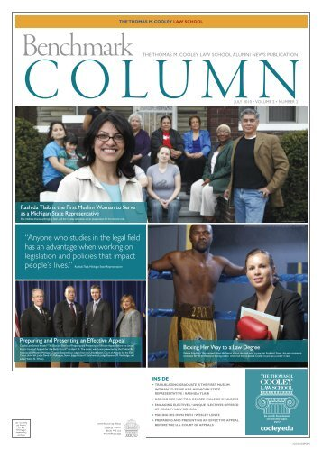 Benchmark Column - Thomas M. Cooley Law School