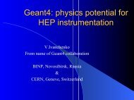 Geant4: physics potential for HEP instrumentation - Geant4 - CERN
