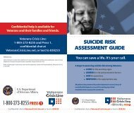 SUICIDE RISK ASSESSMENT GUIDE - VA Mental Health