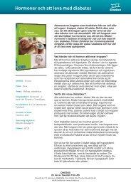Hormoner och att leva med diabetes - SLI.se