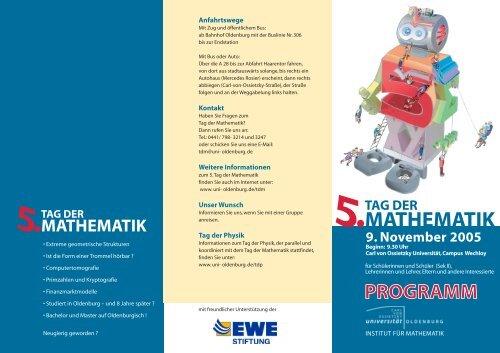Tag der Mathematik - Universität Oldenburg