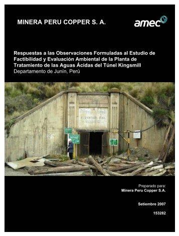 MINERA PERU COPPER S. A. - Ministerio de Energía y Minas