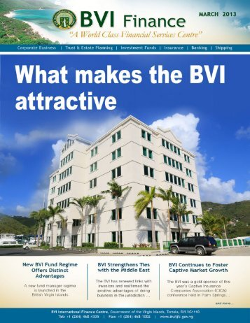 What makes the BVI attractive - The British Virgin Islands ...