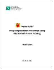 Project IN4M Final Report - Canadian Psychological Association