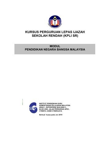 Modul Pendidikan Negara Bangsa