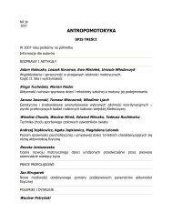 Antropomotoryka 38-2007 - Akademia Wychowania Fizycznego w ...