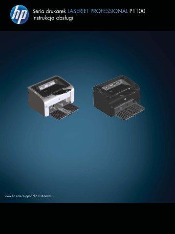 HP LaserJet P1100 User Guide - PLWW - Centrum Druku