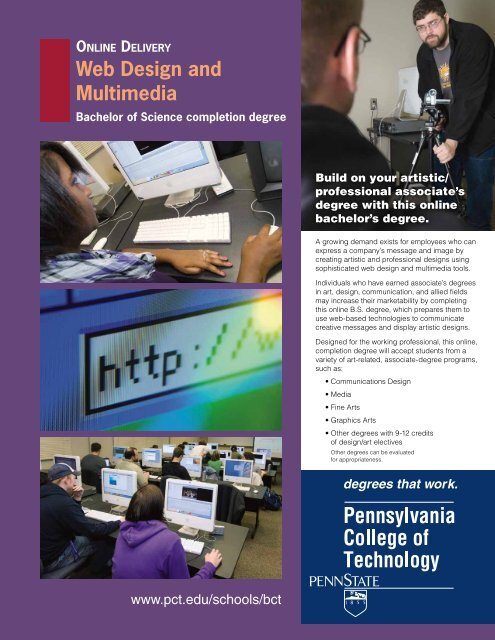 Web And Interactive Media Bim Pennsylvania College Of