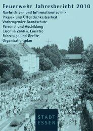 Jahresbericht 2010 -  Berufsfeuerwehr Essen