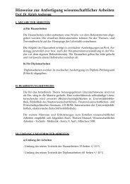 Hinweise zu den Hausarbeiten - Prof. Dr. Ralph Anderegg ...