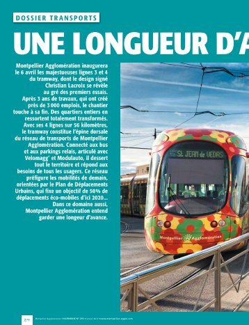 DOSSIeR TRanSPORTS - Montpellier Agglomération