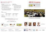 Ãœbersicht Kongressprogramm - GETUP-Kongress