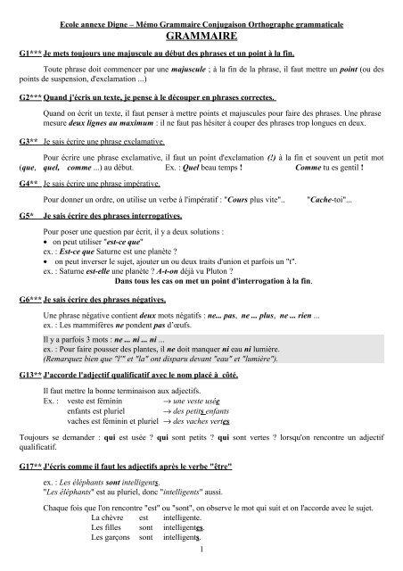 Grammaire Eklablog