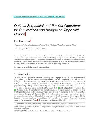 Optimal Sequential and Parallel Algorithms for Cut Vertices and ...