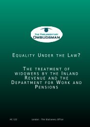 Equality under the law? - the Parliamentary and Health Service ...
