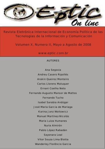 Revista Eletrónica Internacional de Economía Política de las ... - Eptic