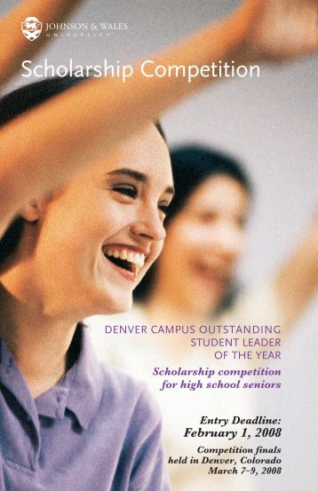 Scholarship Competition - Johnson & Wales University