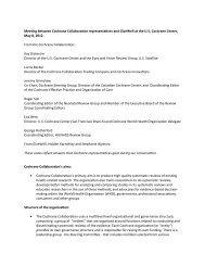 Cochrane Collaboration representatives - GiveWell