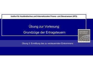 Ermittlung des zu versteuernden Einkommens - IIFS
