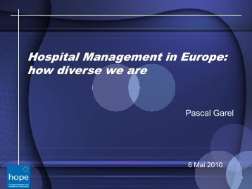Hospital management in Europe - AEMH