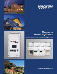 Magnum Panel Systems Brochure - Advance Power