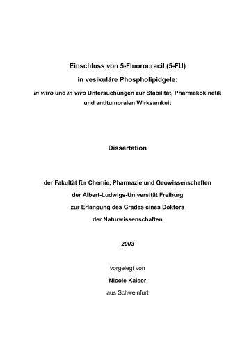 Einleitung - FreiDok - Albert-Ludwigs-Universität Freiburg