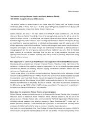 Press release Wonca Europe Conference 2012