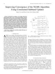 Improving Convergence of the NLMS Algorithm Using Constrained ...